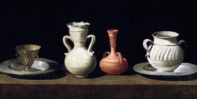 Utensili da tavola, di Francisco de Zurbarán
