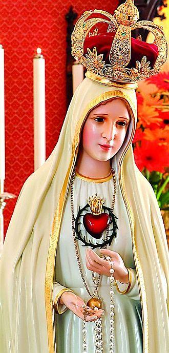 """20f260b9b Com aquela celestial Senhora """"vestid NOSSA SENHORA IMAC CORAÇAO 1"""