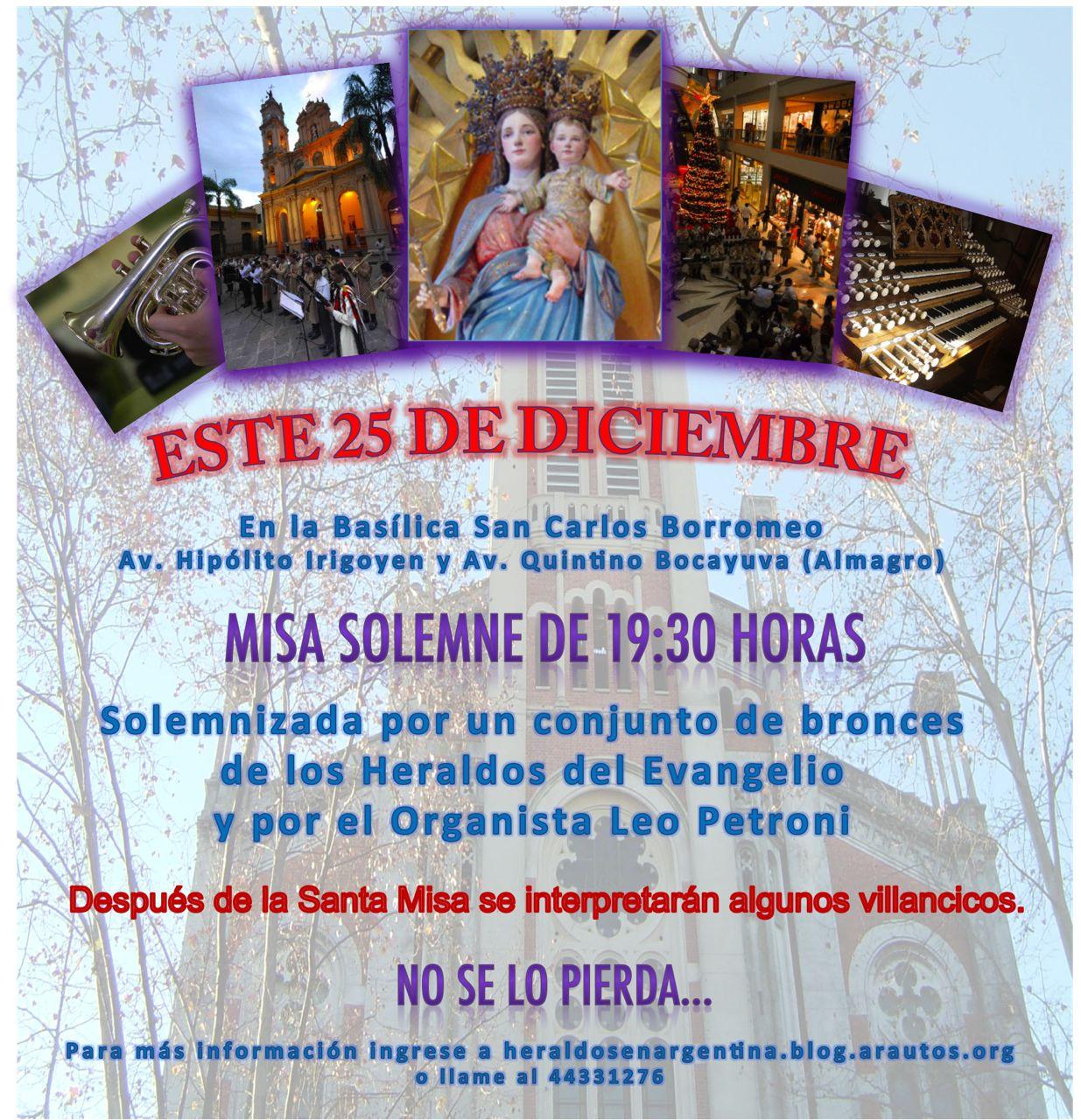 Invitación para concierto en la Basílica San Carlos Borromeo