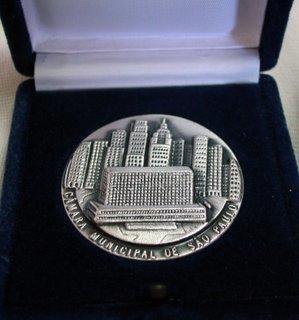 Cerimônia de entrega da medalha Anchieta a Mons. João S. Clá Dias