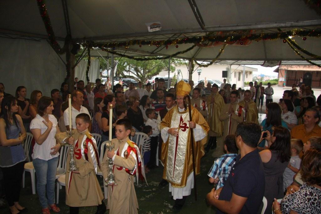 Inauguração do Presépio com D. Irineu
