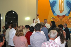 Missa na Igreja Nossa Senhora dos Navegantes