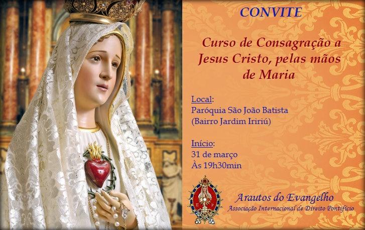 Curso de 'Consagração a Jesus Cristo, pelas mãos de Maria' na Paróquia São João Batista