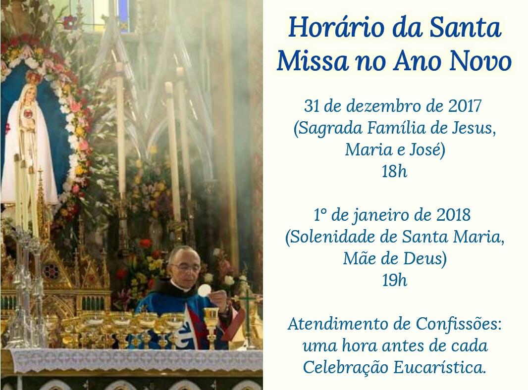 Santa Missa no Ano Novo