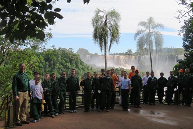 Colégio Arautos de Joinville em uma viagem internacional