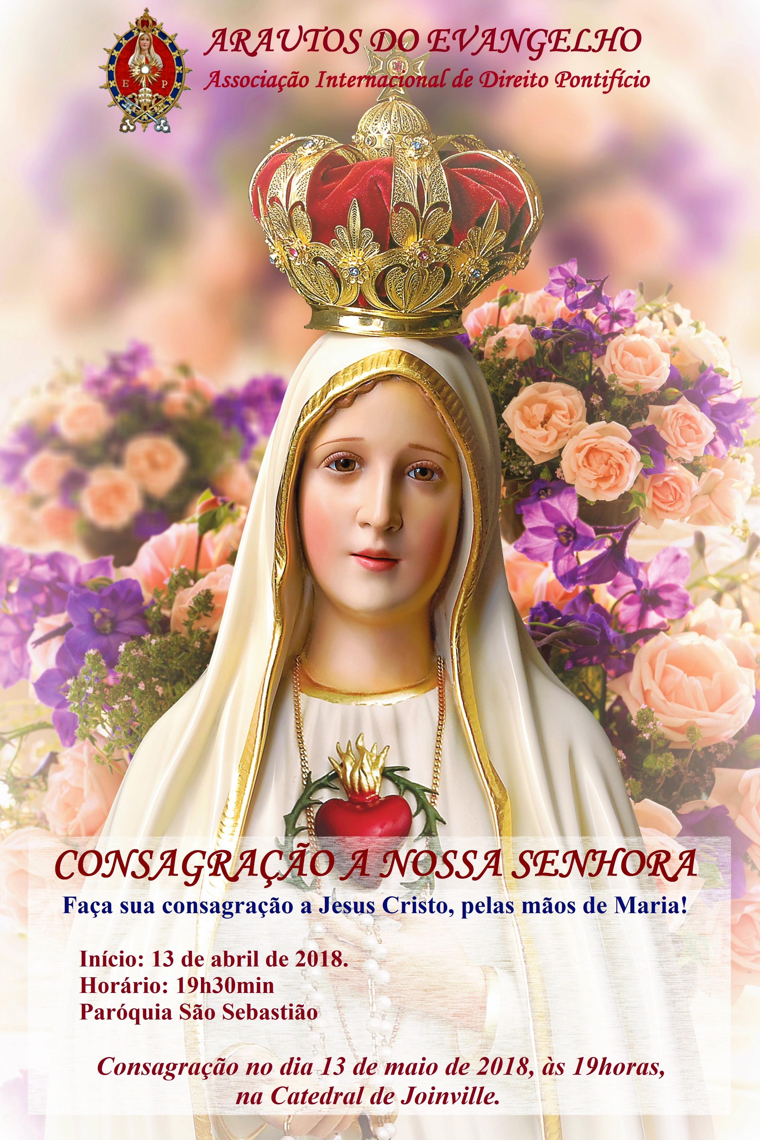 Confira onde ocorrem os cursos de Consagração a Jesus Cristo, pelas mãos de Maria
