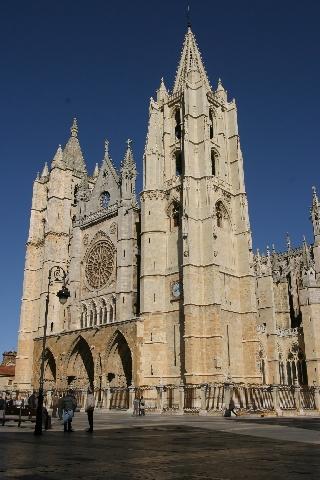 Catedral da Idade Média em León, Espanha