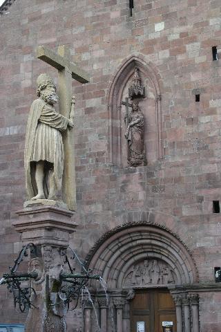Imperador Constantino e Santa Helena sua mãe, França