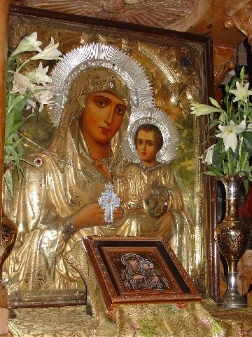 A Virgem e o menino, Igreja da Dormição de Maria, Jerusalém, Israel