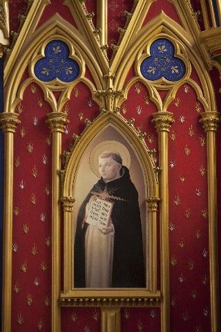 São Tomás de Aquino, pintura na Igreja Nossa Senhora do Rosário, em São Paulo, Brasil