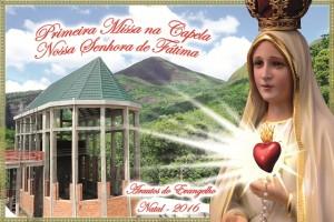 Missa na capela de Nossa Senhora de Fátima