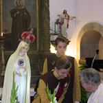 Imagem do Imaculado Coração de Maria na Capela de Santo António