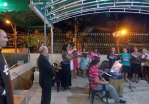 Visita de D. Murilo Krieger à casa dos Arautos em Salvador