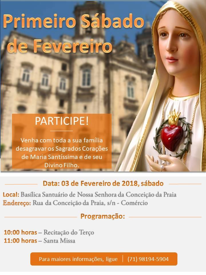 CONVITE: SÁBADO REPARADOR DE FEVEREIRO