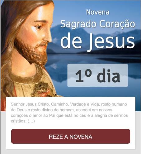 NOVENA AO SAGRADO CORAÇÃO DE JESUS: REZE CONOSCO!