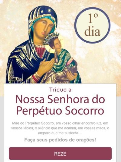 TRÍDUO A NOSSA SENHORA DO PERPÉTUO SOCORRO: REZE CONOSCO!