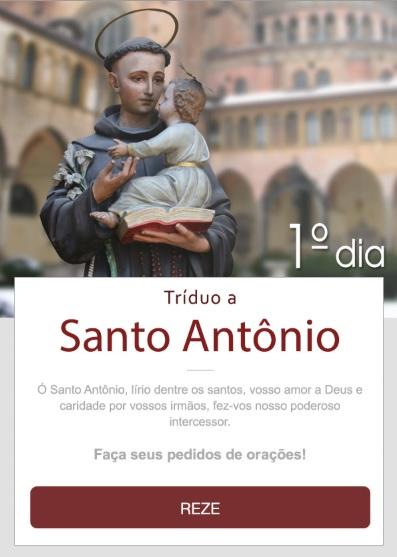 TRÍDUO A SANTO ANTÔNIO: REZE CONOSCO!
