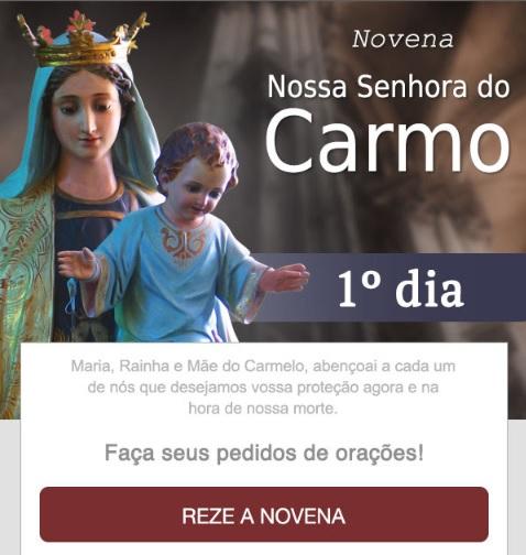 NOVENA A NOSSA SENHORA DO CARMO. REZE CONOSCO!