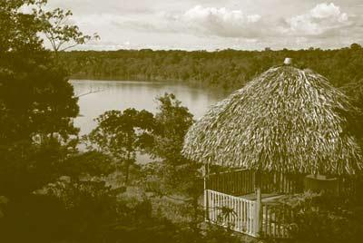 Casa típica en las riveras del Putumayo